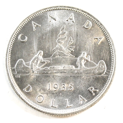 1935 Canada Dollar Choice Brilliant Uncirculated Ms 64