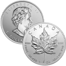 1oz. Silver Maple Leaf $5 .9999 Pure