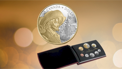 2008 Canada 400th Anniversary of Quebec Proof Double Dollar Set