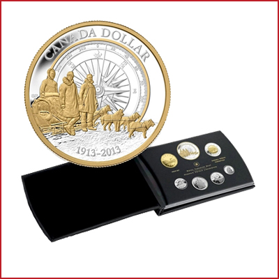 2013 Canada Arctic Expedition Fine Silver Double Dollar Proof Set