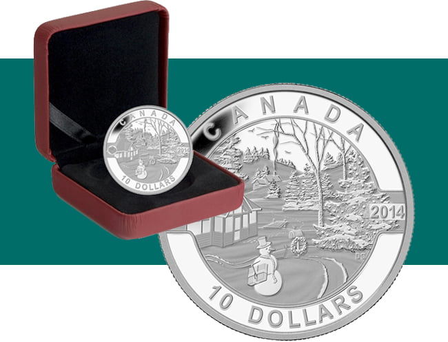 2014 $10 Oh Canada - Canadian Holiday Scene