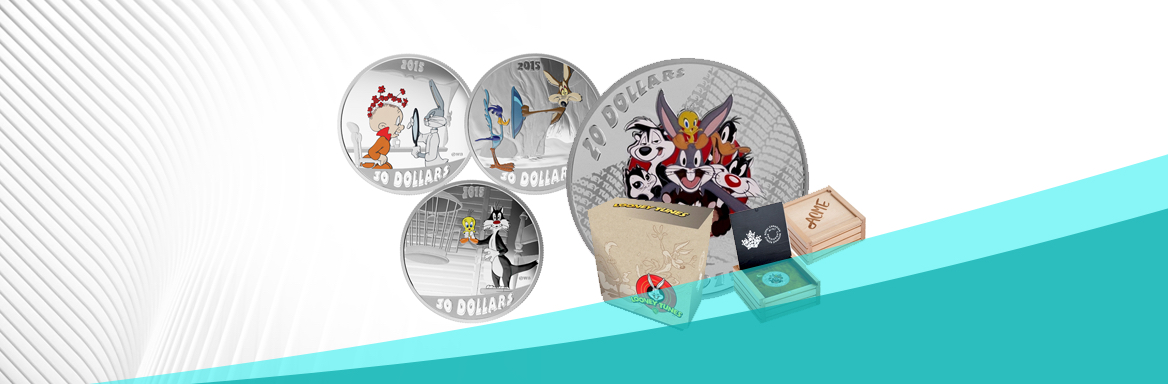 2015 Looney Tunes Classic Silver Coloured Coins