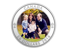 2016 Canada $20 A Royal Tour Fine Silver Coin