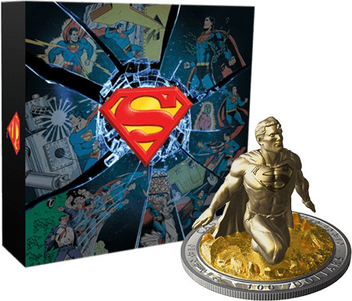 2018 Canada $100 Superman: The Last Son of Krypton - Sculpture Coin