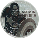 2019 Tuvalu $1 Marvel Series - Captain America 1oz. .999 Silver