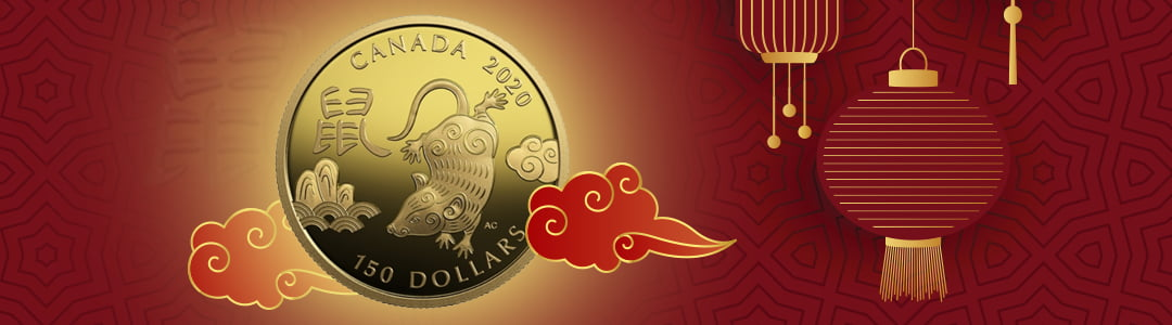 Year of the Rat Silver and Gold Coins