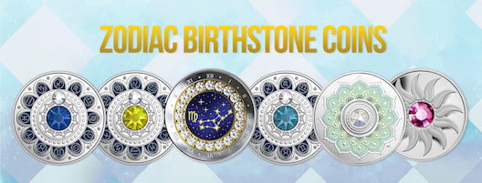 Zodiac Birthstone Coins July to December