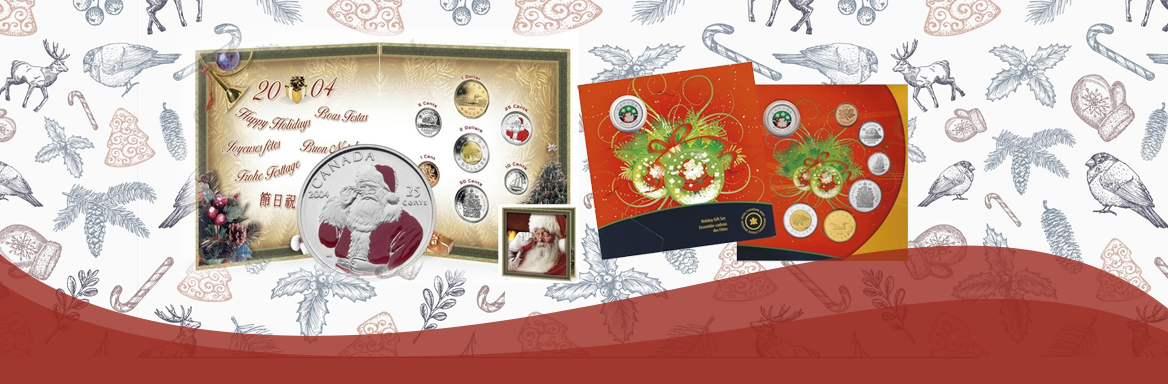 Christmas coin sets released by the RCM