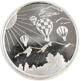 Hot Air Balloon 1/4oz. Monarch .999 Fine Silver