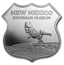 Icons of Route 66 - New Mexico Dinosaur Museum 1oz. .999 Silver Shield