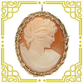 Antique 14K Yellow Gold Cameo Pendant/Brooch