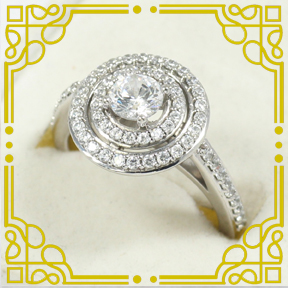 Sterling Silver & Paved CZ Ring