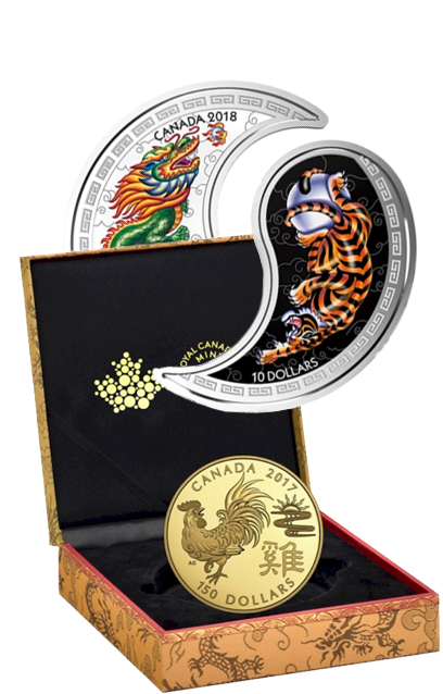 Year of the Monkey, Rooster and Tiger Coins