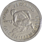 New Zealand 1955 Shilling Very Fine