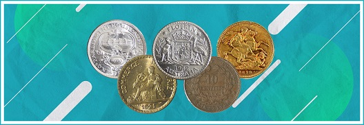 WORLD COINS FEATURING AUSTRALIA AND FRANCE