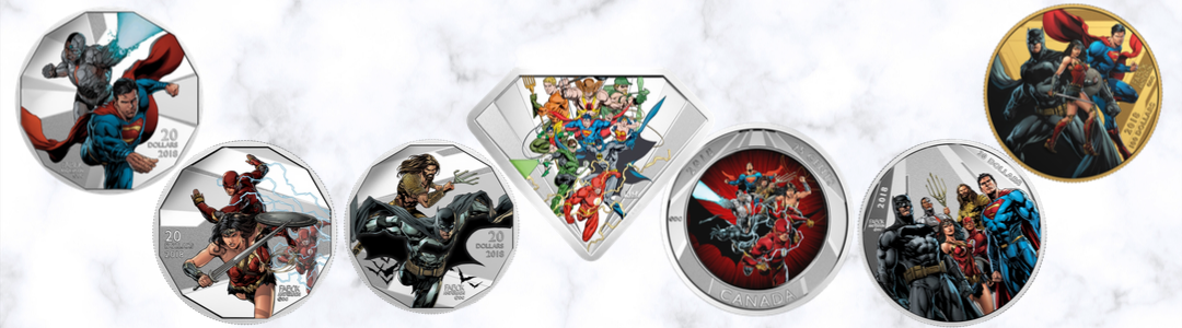 2018 Canada $20 The Justice League Collectible Coins