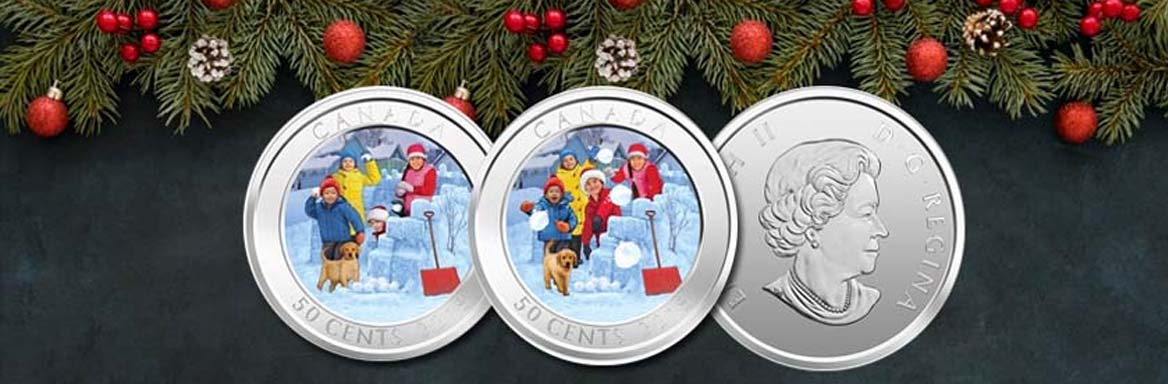 2018 3D Lenticular Snowball Fight Coin