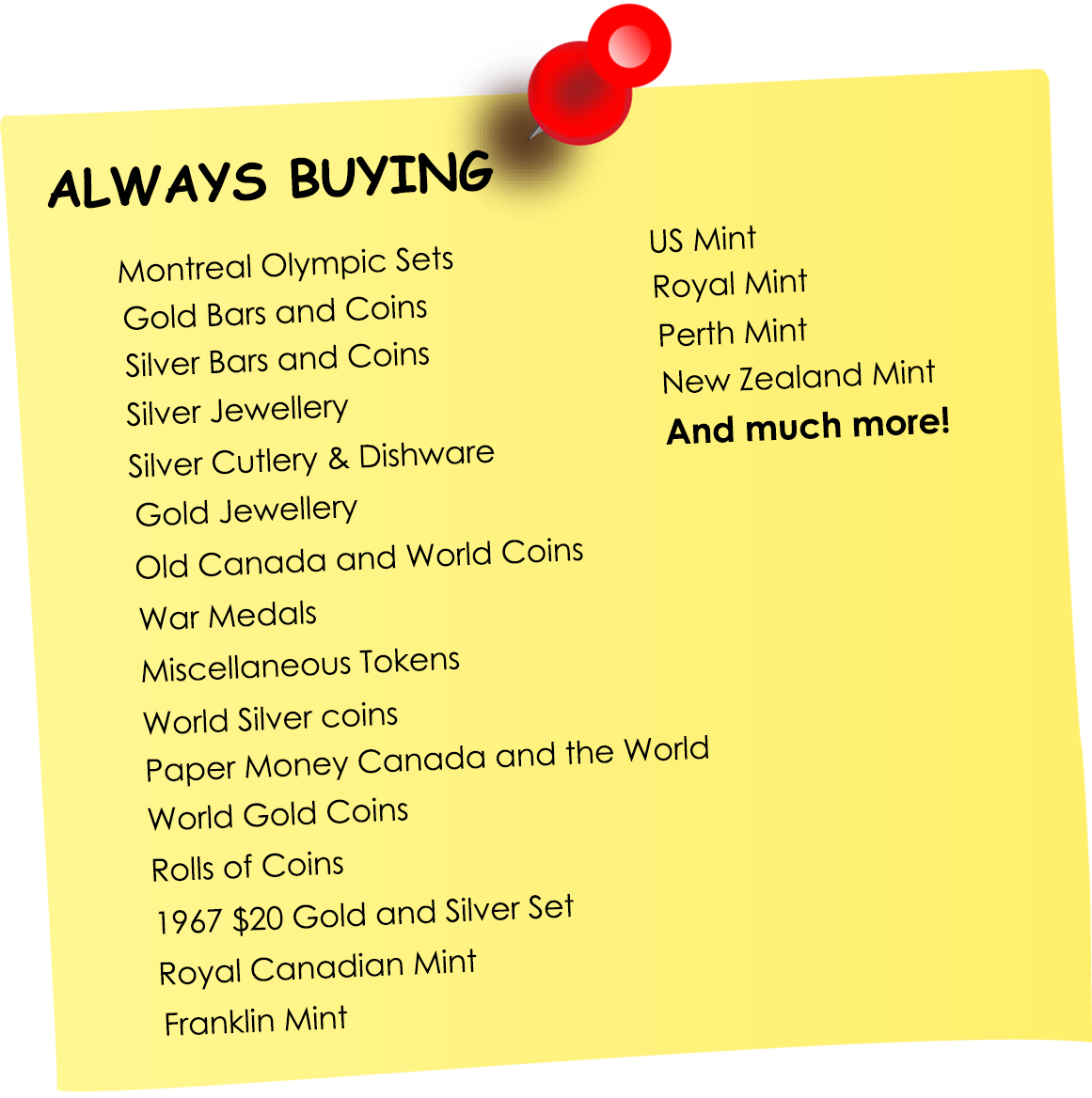 We Are Buying | Colonial Acres Coins