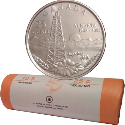 2005-P Canada Alberta 25-Cents Roll | Colonial Acres Coins